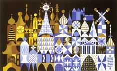 Mary Blair's artwork for It's A Small World.