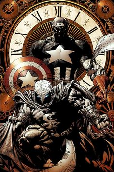 David Finch - Captain America and Moon Knight