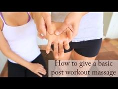 Post Workout Massage — YOGABYCANDACE