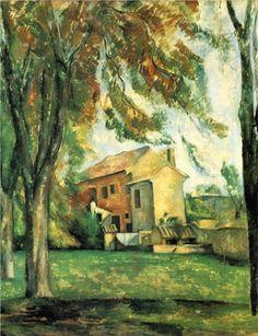 Farmhouse and Chestnut Trees at Jas de Bouffan, 1884 - Paul Cezanne.