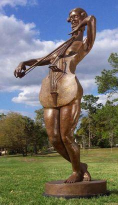 Jack Hill Artwork Title: Mello, Sculpture Bronze. Contemporary artist  from DeLand Florida United States.  Artist Portfolio Website - absolutearts.com