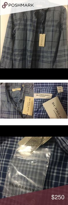 Burberry men's collar dress shirt This is brand new authentic Burberry dress shirt I got from Nordstrom Rack for my bea but it was too small :( I payed $250 including tax NEVER WORN includes Nordstorm gift box. Ready to gift!! Burberry Shirts Dress Shirts