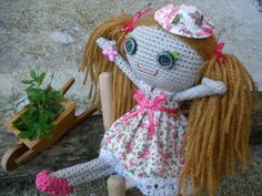 "Country Doll ""Muriel"" / Handmade Doll / Amigurumi Doll / Handmade Toys / Gifts for Girls / Crochet Doll"