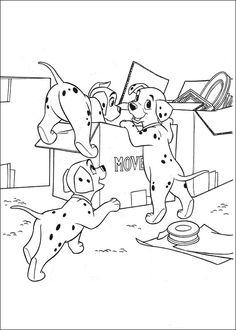 Fargelegging 101 Dalmatinere. Tegninger 13