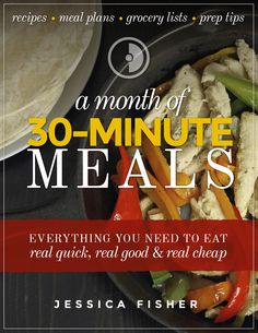 Want to feed your family great meals without a lot of hassle? Grab this month of meal plans and 30 dinner recipes to help you eat well in a jiffy. Cooking For Two, Easy Cooking, Healthy Cooking, Healthy Eating, Clean Eating, Detox Recipes, Gourmet Recipes, Healthy Recipes, Cooking Recipes