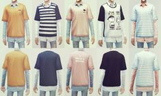 Layered Shirts by KK's Sims | Sims 4 Nexus
