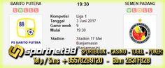Prediksi Skor Bola Barito Putera vs Semen Padang 3 Jun 2017 Liga 1 di Stadion 17 Mei Banjarmasin (Banjarmasin) pada hari Sabtu jam 19:30 WIB