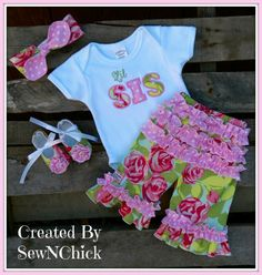 Baby Lil Sis Boutique Outfit by SewNChick on Etsy