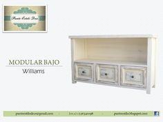 Mueble bajo Organizador de ambientes . Ideal para LCD. Estilo Americano