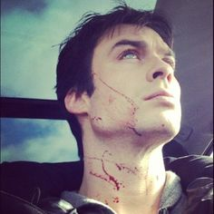 "instagram by Ian. His caption for this picture was ""Scared a bunch of people accidentally at a gas station today. Damon was a little bloody…"" Classic Ian/Damon"