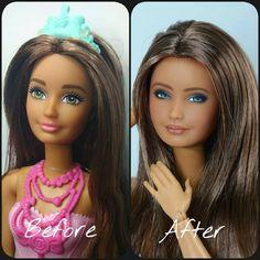 Custom Barbie, Custom Dolls, Barbie And Ken, Barbie Dolls, Doll Repaint, Collector Dolls, Diy Doll, Alchemy, Life Is Beautiful