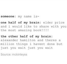 Book of Mormon Hamilton Musicals <<<< and then I just end up being too confused to sing either one