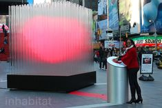 BIG Brings the Love to Times Square With a Pulsing 10-Foot Tall LED Heart Sculpture | Inhabitat New York City