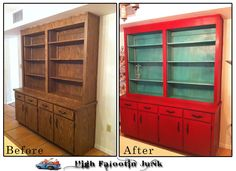Painted Furniture Before and After | Ranch Before and After Kitchen Cabinets with Chalk Paint | High ...