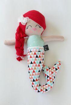 Stella the mermaid plush handmade doll by stapleydolls on Etsy