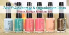 Lots of nail polish storage ideas (with pictures), for both small and large collections {on Home Storage Solutions 101}
