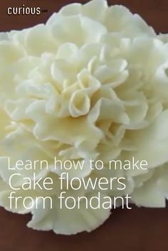 How to Make Cake Flowers from Fondant