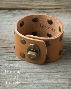 The new Umuragi Cuff Bracelet is riveted together without a single stitch so it will always be a lasting legacy in your family. Click the link in our bio to get a closer look.  #LeatherBracelet #EthicalFashion #PurchaseWithPurpose #BetterWithAge #Love41