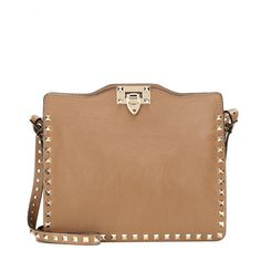 Valentino - Rockstud leather shoulder bag - mytheresa.com