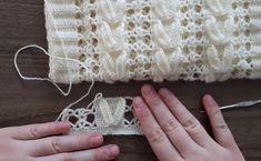 Dowry Brace New Bridal Vest Knitting Model and Expression Crochet Snowflake Pattern, Crochet Leaves, Crochet Stitches Patterns, Baby Knitting Patterns, Crochet Motif, Knitting Stitches, Free Crochet, Stitch Patterns, Crochet Shawl