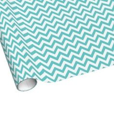Blue Chevron Gift Wrap // By Origami Prints