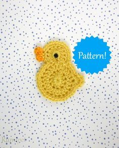 Crochet Duck or Chick Applique Pattern by Kelly DeSandro on Ravelry