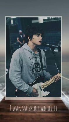 Brad Simpson iphone wallpaper. The Vamps - Shout About It. Cute, handsome, Bradley, hot, guitar, live, quote