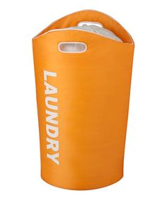 Loving this Orange Laundry Tote on #zulily! #zulilyfinds
