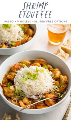 This authentic shrimp etouffee is positively packed with true Cajun flavor! Perfect when you're craving something filling, bright, spicy, and delicious, this recipe is restaurant quality and perfect with a mound of rice and loaf of crusty bread. Prawn Recipes, Cajun Recipes, Fish Recipes, Healthy Recipes, Seafood Recipes, Healthy Meals, Shrimp Etouffee, Tummy Yummy, Kitchens