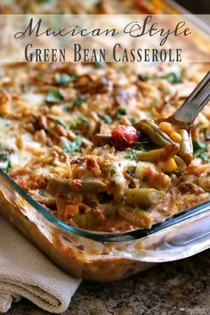 This easy to make Mexican Style Green Bean Casserole is a delicious twist on an old favorite! Perfect for the holidays!  @Target #GiveThanksBeFull #ad   http://www.cozycountryliving.com/mexican-green-bean-casserole/