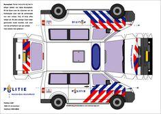 bouwplaat volkswagen transporter politieauto