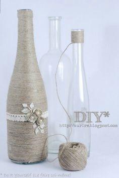 fles met touw