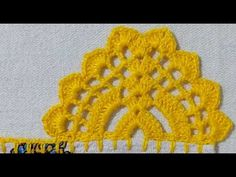 BARRADO # 166 COM CARREIRA ÚNICA - YouTube Crochet Clothes, Crochet Hats, Chrochet, Filet Crochet, Cross Stitch, Knitting, Crafts, Crochet Dishcloths, Crochet Edgings