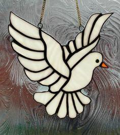 White dove in flight Original Handmade Real coloured Glass Suncatcher | eBay
