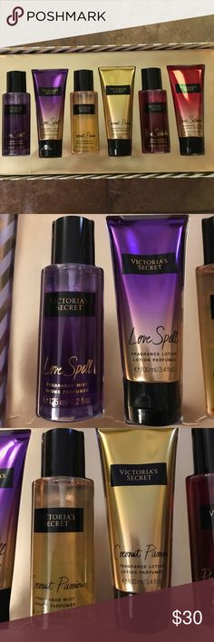 Victoria's Secret 6pc Gift Set Opened box and tested the middle fragrance once.  Everything else is untouched and completely full. Victoria's Secret Other