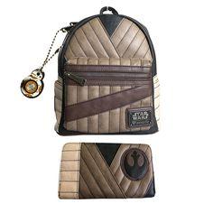 29c1533868b Star Wars The Last Jedi Rey Mini Backpack Wallet Set   Loungefly 6 pk  Earrings
