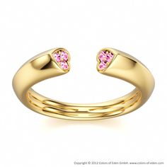 Pink Sapphire Gold Ring Way of Love #heart #valentine #engagement #band