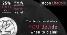 25% lifetime commission + up to 100% claim bonus!  Refer your friends, enemies and everyone else to Moon Litecoin and recieve 25% lifetime commission on all their faucet claims!   http://moonliteco.in/?ref=e0fb58e81a70