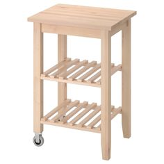 IKEA - BEKVÄM, Kitchen cart, birch, Solid wood can be sanded and surface treated as needed. Gives you extra storage in your kitchen. For maximum quality, re-tighten the screws about two weeks after assembly. Kitchen Ikea, Kitchen Storage, Storage Spaces, Storage Ideas, Kitchen Island Trolley, Kitchen Islands, Trolley Table, Ikea Bekvam, Ikea Furniture Hacks