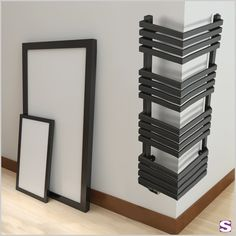 Design radiator Ove - SEBASTIAN e. - Ove makes the impossible possible. This radiator can be installed at the corner. Your space is ideally used and heated. Vertical Radiators, Modern Radiators, Bathroom Inspiration, Design Inspiration, Modern Interior, Interior Design, Corner Storage, Master Bath Remodel, Upstairs Bathrooms
