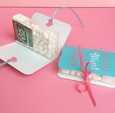 Mint to be party favor but with the mint tic tac