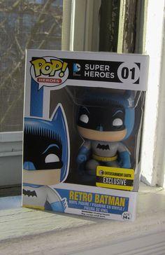 Retro Batman from Funko Pop Batman Pop Vinyl, Funko Pop Batman, Figs, Vinyl Figures, Entertaining, Superhero, Retro, Retro Illustration, Funny