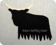 1x5in Y2. Highland Coo Plain Black Tartan Wool Fabric,Cut Out,Iron On,Appliqué £2.60 plus P&P.