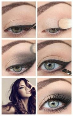 tuto maquillage yeux verts, apprendre a se maquiller les yeux