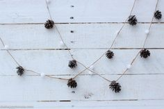 DIY Pom Pom & Pine Cone Garland for the holidays by thehappyhousie.com for Classy Clutter-1