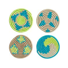 J.Crew + Indego Africa Coasters.  These are supposed to be made by female artisans in Rwanda.  I love the neon colors against the neutral.