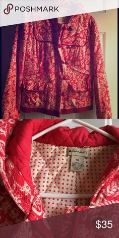 Elevenses jacket - Anthropologie Quilted, with a hood! Perfect for the not-super-cold-days! From a smoke/pet free home. In great shape! Anthropologie Jackets & Coats