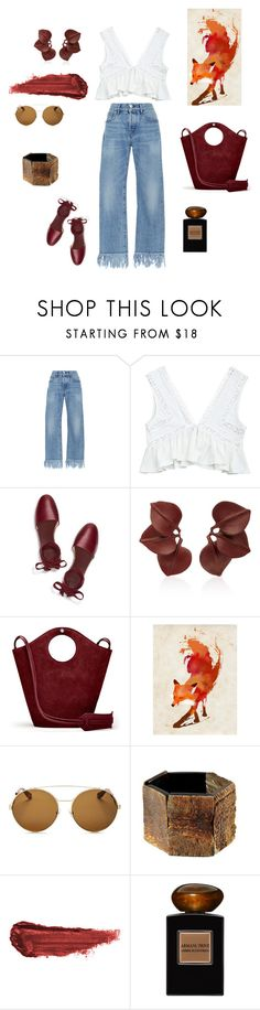 """""""Fox Hunter"""" by futuraocculto ❤ liked on Polyvore featuring 3x1, Tory Burch, Vanda Jacintho, Elizabeth and James, Monde Mosaic, Givenchy, By Terry, Giorgio Armani, brown and redpurple"""