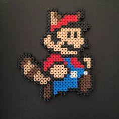 Tanooki Super Mario Bead Art Fridge Magnet Pixel Beads, Display Resolution, Pulp Fiction, Bead Art, Hama Beads, Super Mario, Colours, Handmade Gifts, Etsy