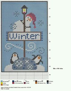 SIGNS OF WINTER by KATHY FRANKLIN (FROM CROSS STITCH)